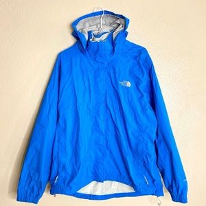The North Face Blue Jacket Hoodie Hyvent XL